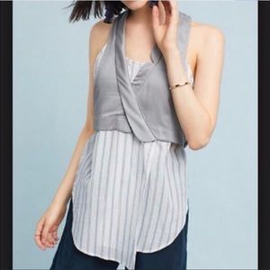 Anthropologie Maeve menswear vest top  size 4 🌟